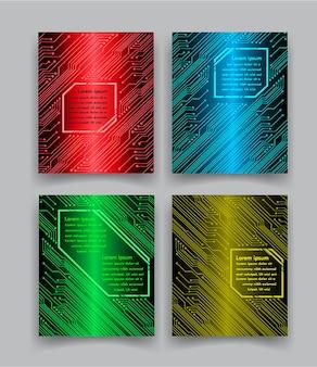 Modèle de conception de brochure vecteur affiche de présentation minimale du livre de couverture abstraite portefeuille bleu