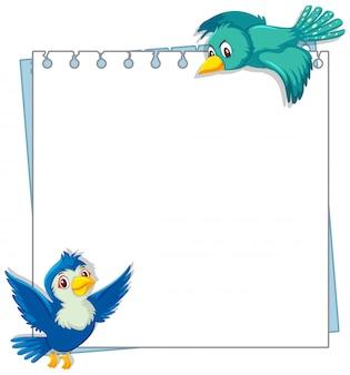 Modèle de conception de cadre avec deux oiseaux