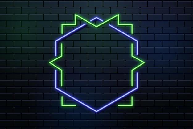 Modèle de conception de cadre néon