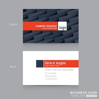 Modèle de conception de carte d'identité de carte de visite gris foncé moderne
