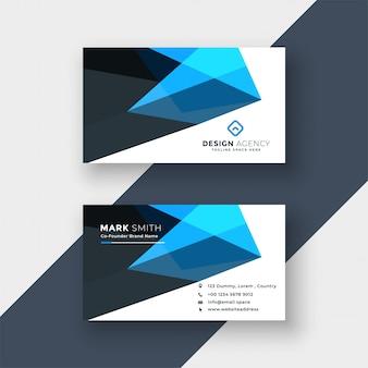 Modèle de conception de carte de visite abstrait bleu