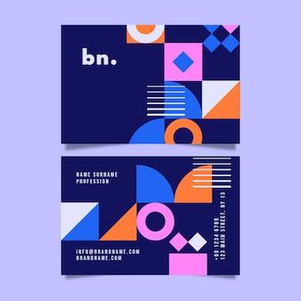 Modèle de conception de carte de visite abstraite