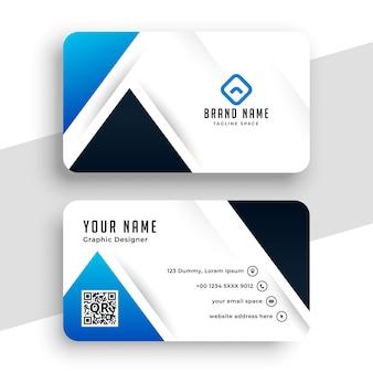 Modèle de conception de carte de visite bleu moderne bleu