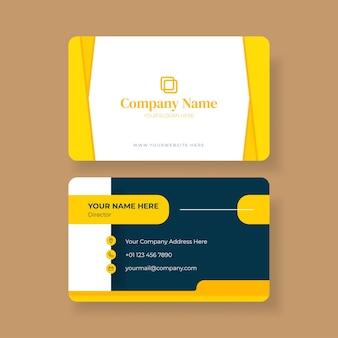Modèle de conception de carte de visite ou de carte de visite moderne