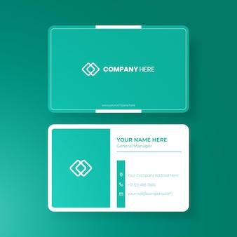 Modèle de conception de carte de visite minimaliste