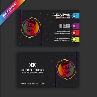 Modèle de conception de carte de visite de photographe