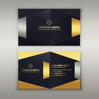 Modèle de conception de carte de visite premium de luxe