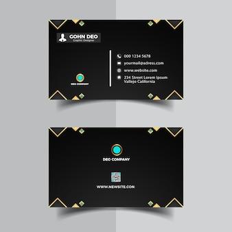 Modèle de conception de carte de visite à puce noire