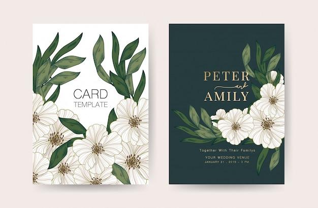 Modèle de conception de cartes d'invitation de mariage