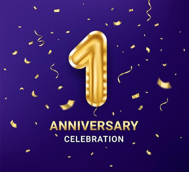 Modèle de conception de célébration d'anniversaire de 1ère année