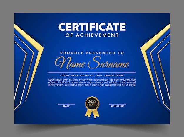 Modèle de conception de certificat abstrait premium