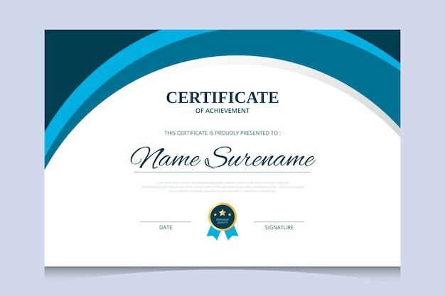 Modèle de conception de certificat de diplôme résumé