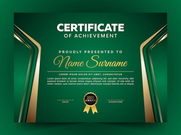 Modèle de conception de certificat élégant