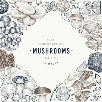 Modèle de conception de champignons.