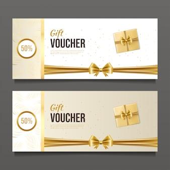 Modèle de conception de chèque cadeau de luxe.