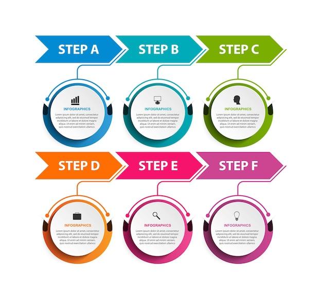 Modèle de conception de chronologie infographique d'options commerciales