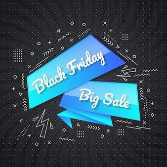 Modèle de conception de concept de vendredi noir