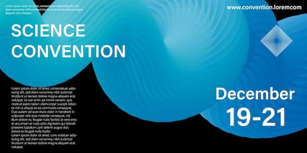 Modèle de conception de conférence. convention scientifique. conception de fluide liquide