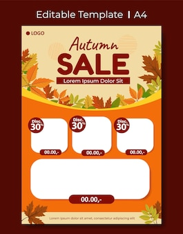 Modèle de conception de courrier de catalogue, thème d'automne modifiable