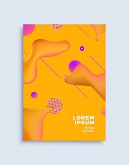 Modèle de conception de couverture abstraite moderne.