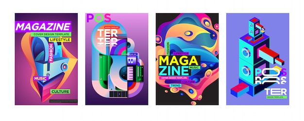 Modèle de conception de couverture et d'affiche pour le magazine