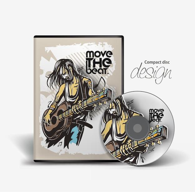 Modèle de conception de couverture de cd de musique avec espace de copie