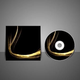 Modèle de conception de couverture de cd.