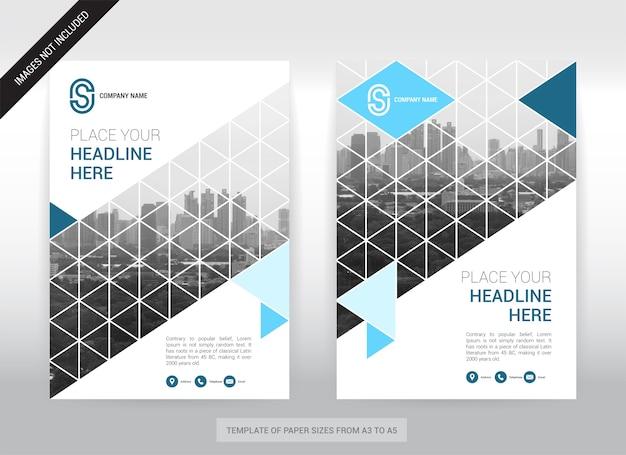 Modèle de conception de la couverture de la couverture des affaires de fond de la ville. facile à utiliser.