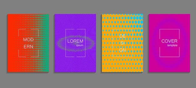 Modèle de conception de couverture en demi-teinte vectorielle abstraite minimale. futur fond dégradé géométrique.