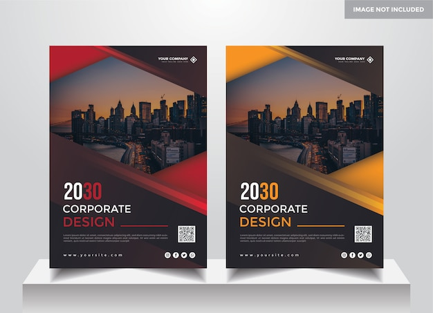 Modèle de conception de couverture d'entreprise a4