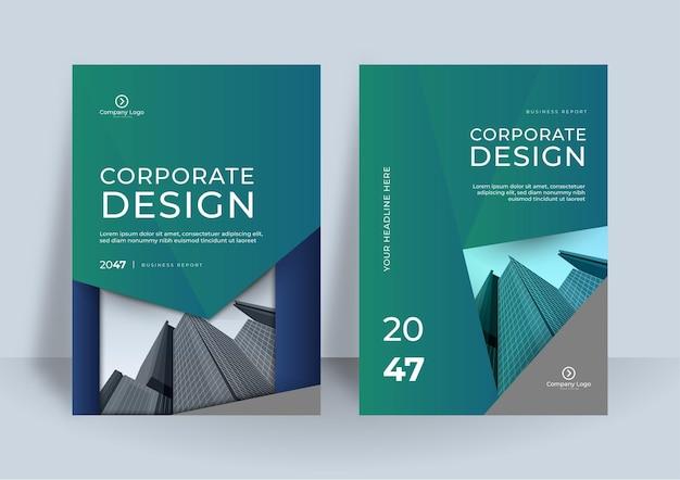 Modèle de conception de couverture d'entreprise. conception d'affiche géométrique moderne.