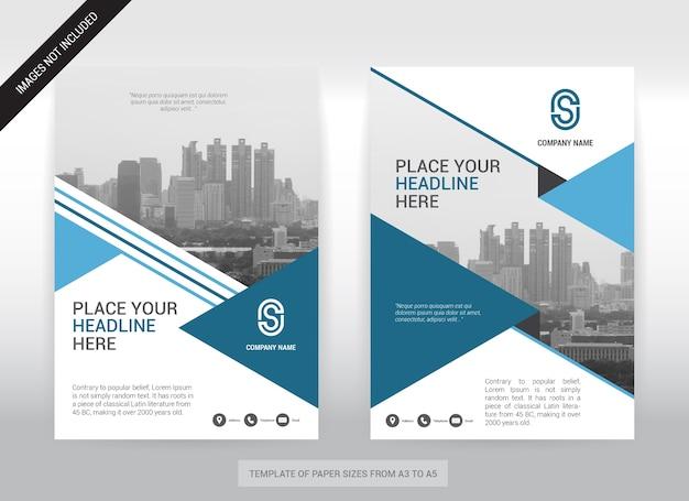 Modèle de conception de couverture d'entreprise de fond de ville.