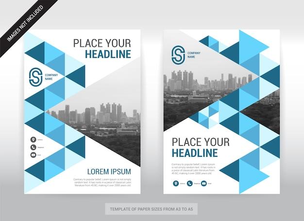 Modèle de conception de couverture d'entreprise de fond de ville