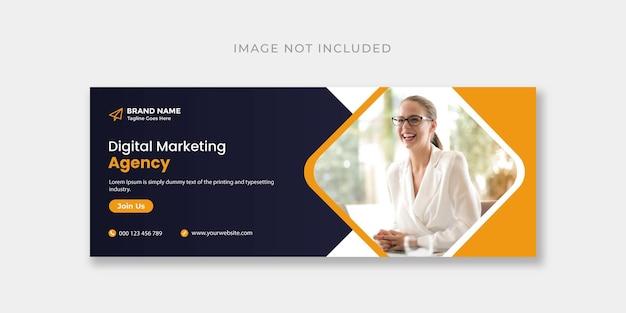 Modèle de conception de couverture facebook ou de bannière web pour le marketing numérique