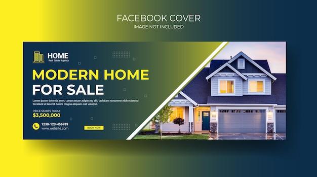 Modèle de conception de couverture facebook immobilier