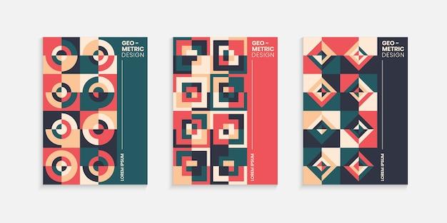 Modèle de conception de couverture géométrique rétro