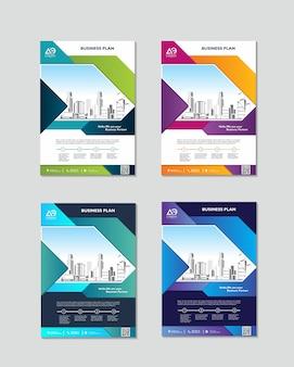 Modèle de conception de couverture de livre en a4 facile à adapter au rapport annuel de la brochure
