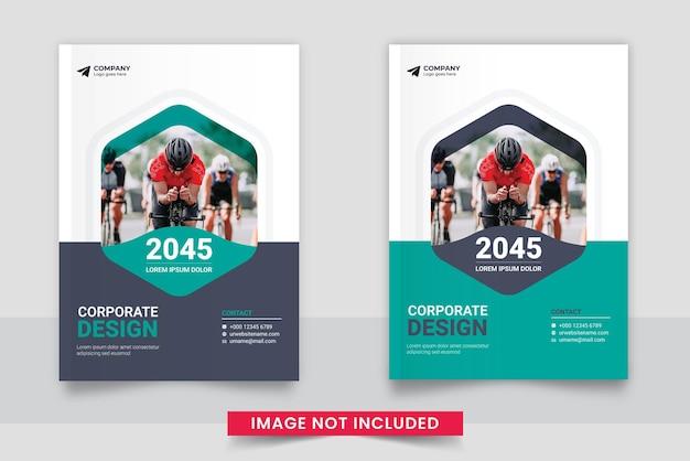 Modèle de conception de couverture de livre a4 minimal d'entreprise