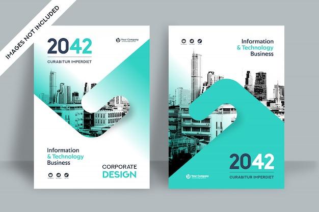 Modèle de conception de couverture de livre d'affaires de fond de ville