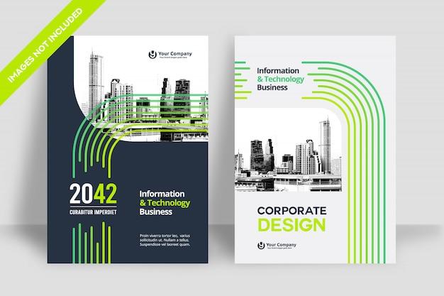 Modèle de conception de couverture de livre d & # 39; affaires