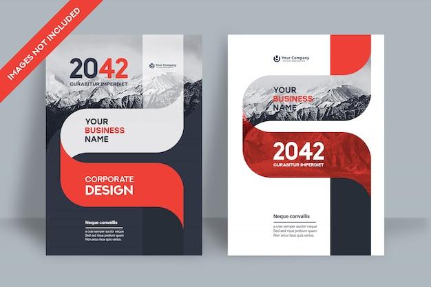 Modèle de conception de couverture de livre d'entreprise en a4.