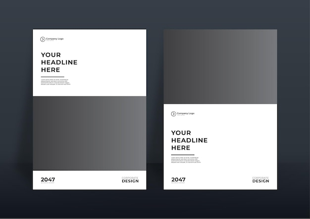 Modèle de conception de couverture de livre d'entreprise ou arrière-plan de modèle de dépliant pour la conception d'entreprise. modèle de profil d'entreprise moderne au format a4