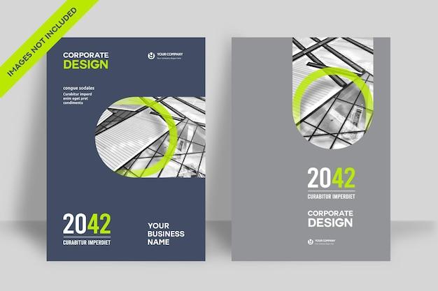 Modèle de conception de couverture de livre d'entreprise au format a4. peut être adapté à une brochure, un rapport annuel, un magazine, une affiche, une présentation commerciale, un portefeuille, un dépliant, une bannière, un site web.