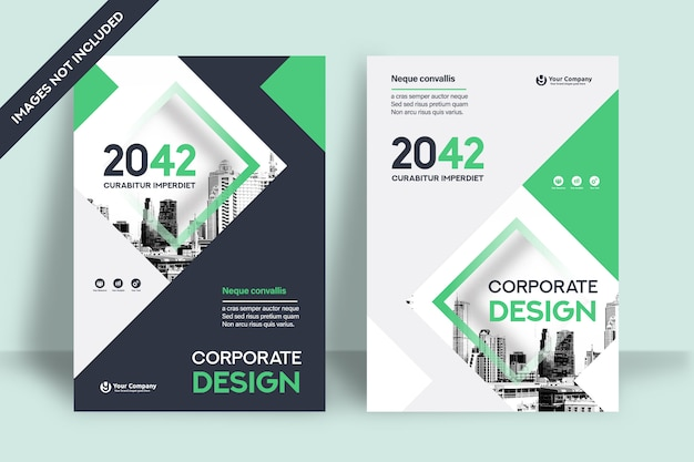 Modèle de conception de couverture de livre d'entreprise au format a4.
