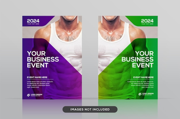 Modèle de conception de couverture de livre d'entreprise polyvalent dans une maquette vectorielle premium au format a4