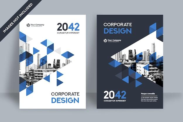 Modèle de conception de couverture de livre d'entreprise.