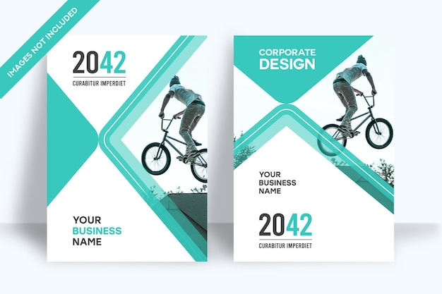 Modèle de conception de couverture de livre d'entreprise