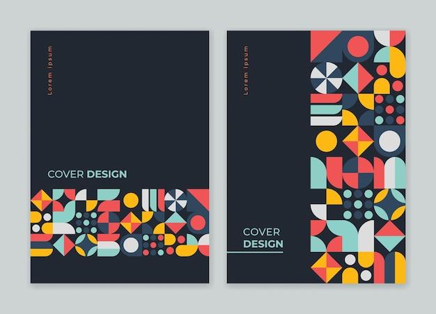 Modèle de conception de couverture de livre géométrique