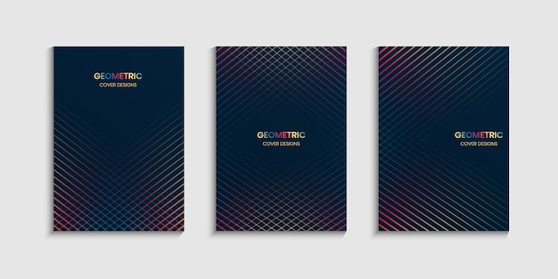 Modèle de conception de couverture minimale avec des lignes géométriques
