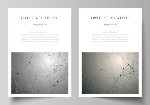 Modèle de conception de la couverture, mise en page au format a4.
